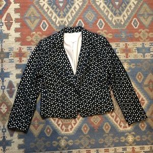Loft eyelet Black and Tan blazer size 4